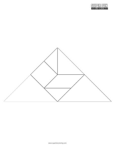 tangram coloring pages - photo#12