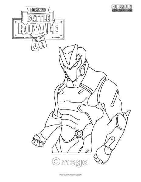 fortnite coloring pages omega Omega Skin Coloring Page   Super Fun Coloring fortnite coloring pages omega