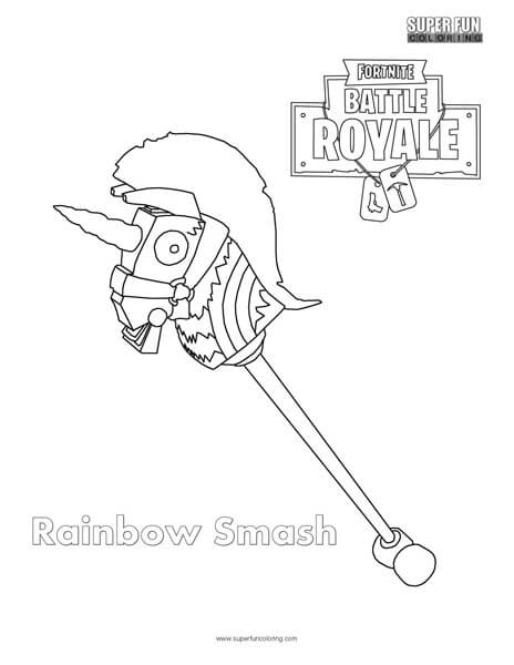Fortnite Rainbow Smash Pickaxe Drawing