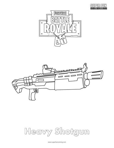 heavy shotgun fortnite coloring page super fun coloring Timmy South Park Clip Art South Park Clip Art Black and White