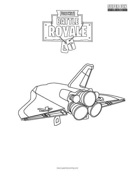 Orbital Shuttle Fortnite Coloring Page Super Fun Coloring