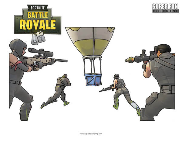 Fortnite Supply Drop Coloring Page