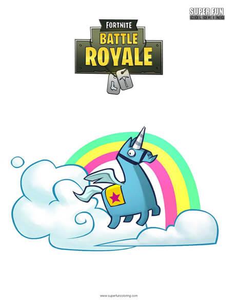 Brite Llama Fortnite Coloring Page Super Fun Coloring