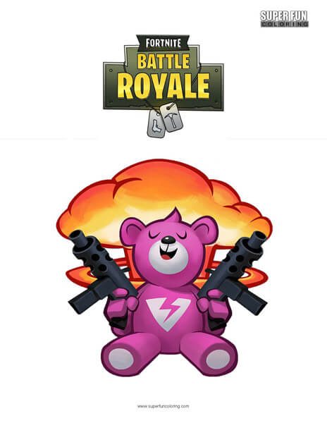 Fortnite Brite Bomber Coloring Page