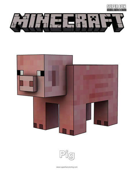 Minecraft Coloring Super Fun Coloring
