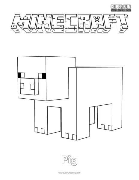 Minecraft Pig Face Coloring Pages Coloring Pages