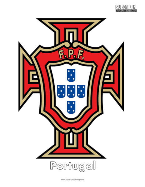 Portugal Football Coloring Page