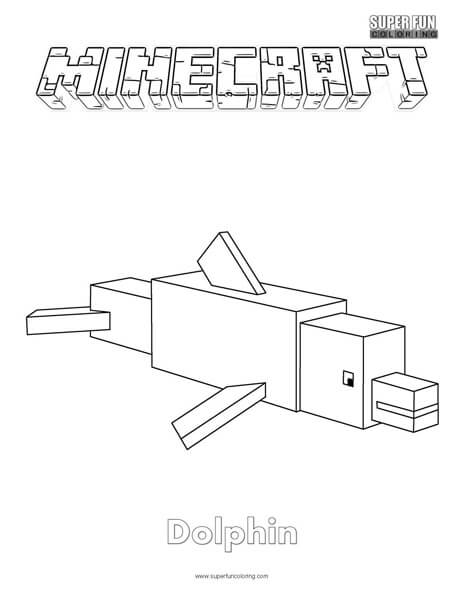 minecraft weapons coloring pages - minecraft dolphin coloring page super fun coloring