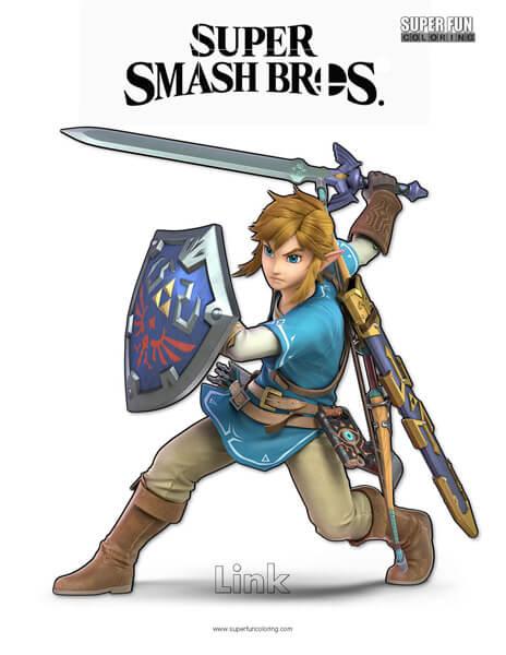 Link- Super Smash Bros. Ultimate Nintendo Coloring Page