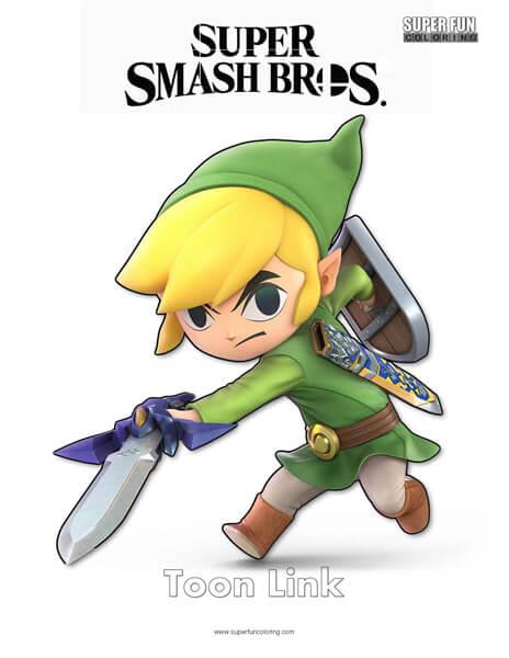 Toon Link- Super Smash Bros. Ultimate Nintendo Coloring Page