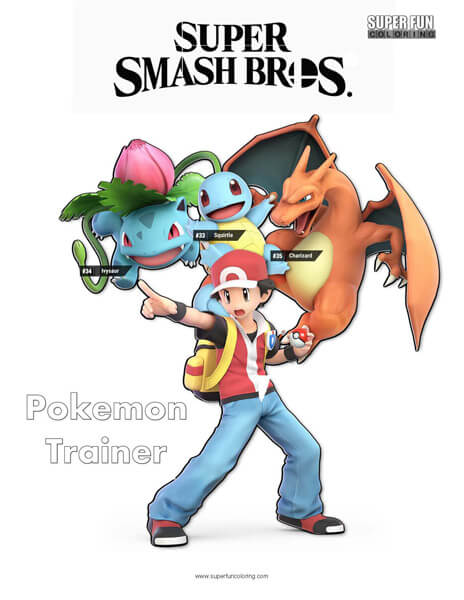 Super Smash Brothers Coloring Pages Super Fun Coloring