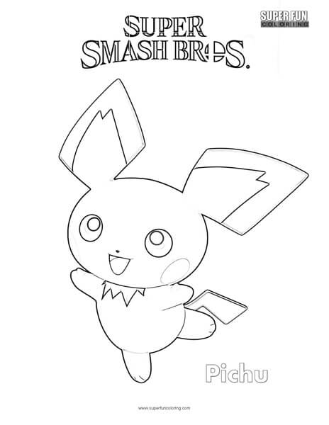 Pichu Coloring Pages To Print