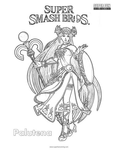 super smash brothers coloring pages - palutena coloring pages coloring pages