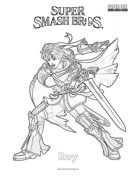 Roy- Super Smash Brothers Coloring Page - Super Fun Coloring