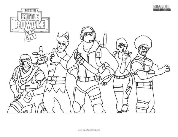Fortnite Coloring Page Super Fun Coloring