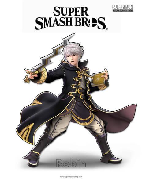 Robin- Super Smash Bros. Ultimate Nintendo Coloring Page
