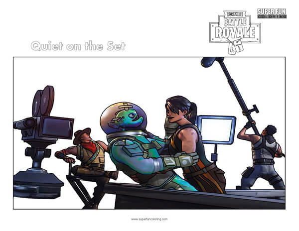 Fortnite Quiet on the Set Coloring Page
