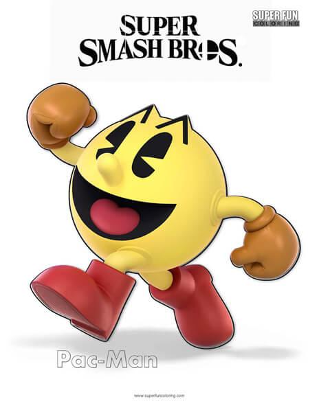 Wario- Super Smash Bros. Ultimate Nintendo Coloring Page