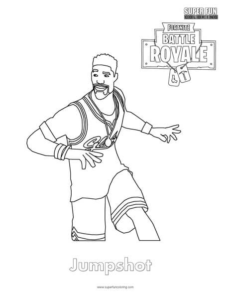 Jumpshot Fortnite Coloring Page Super Fun Coloring