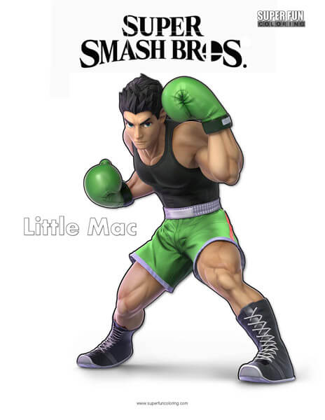Little Mac- Super Smash Bros. Ultimate Nintendo Coloring Page