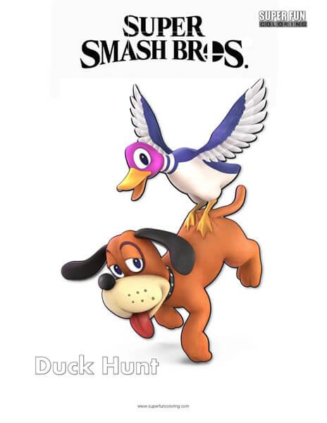 Duck Hunt- Super Smash Bros. Ultimate Nintendo Coloring Page