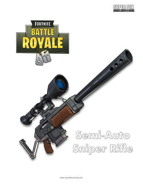 Fortnite Guns Coloring Pages Fortnite Aimbot Link