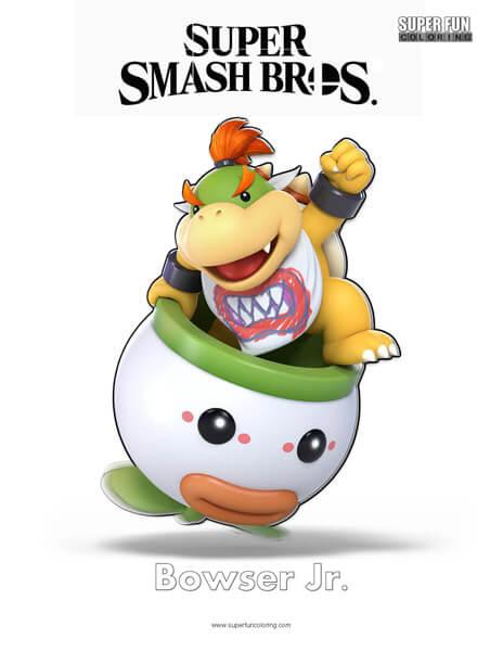 Bowser Jr.- Super Smash Bros. Ultimate Nintendo Coloring Page