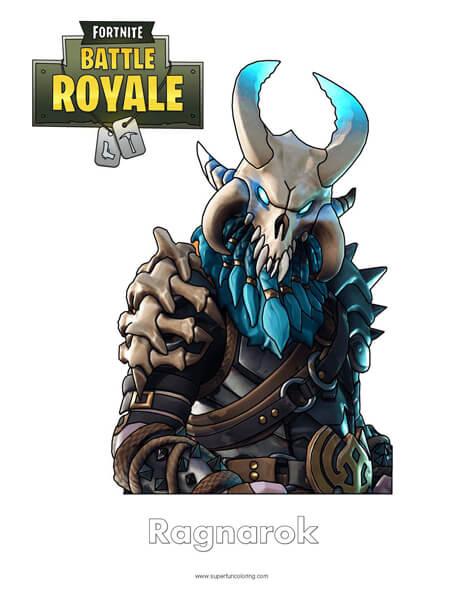 Fortnite Ragnarok Coloring Page