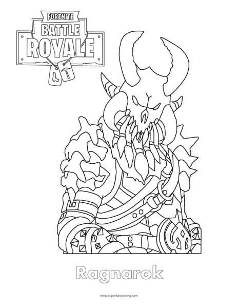 Fortnite Ragnarok Coloring Page - Super Fun Coloring