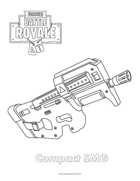Coloring Sheet Fortnite Gun Pages Www Picsbud Com