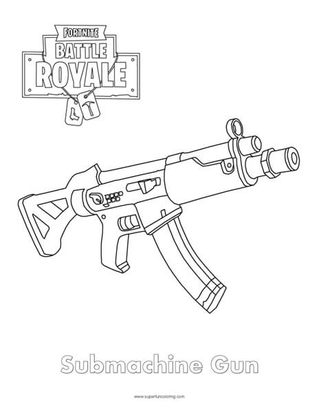 Fortnite Rifle Scar Coloring Page fortnite t Game art and