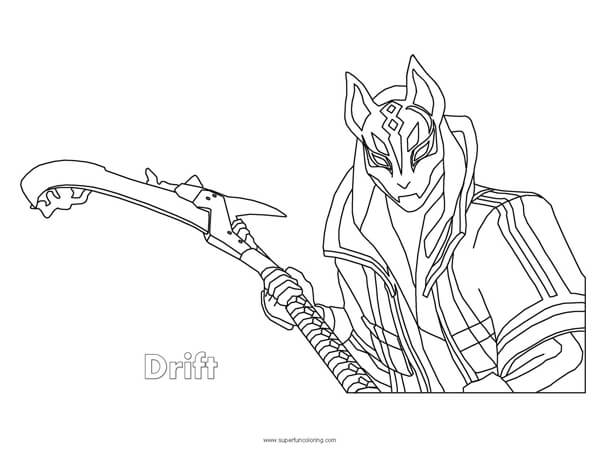graphic about Free Printable Fortnite Coloring Pages called Fortnite Drift Coloring Website page - Tremendous Pleasurable Coloring