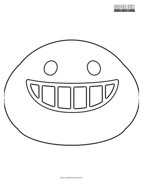 Google Smiling Teeth Emoji Coloring Page Super Fun Coloring
