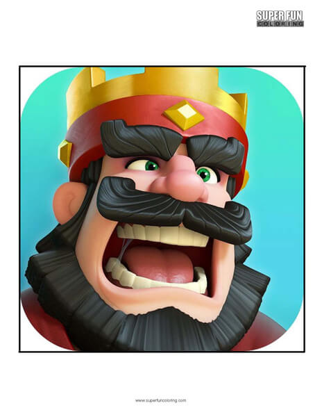 Clash Royale App Coloring Page Android Iphone