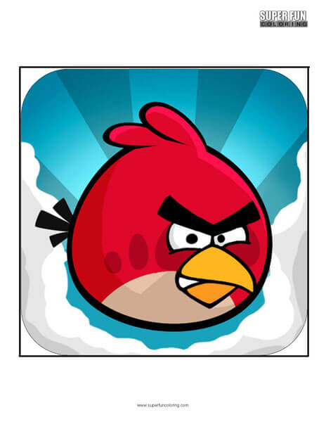 Angry Birds App Coloring Page Android Iphone