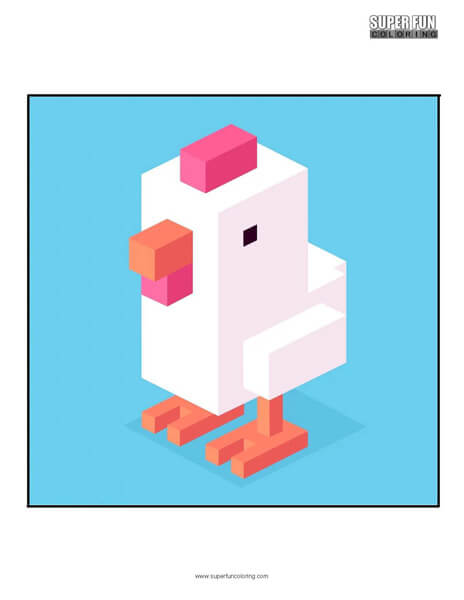 Crossy Road App Coloring Page Android Iphone