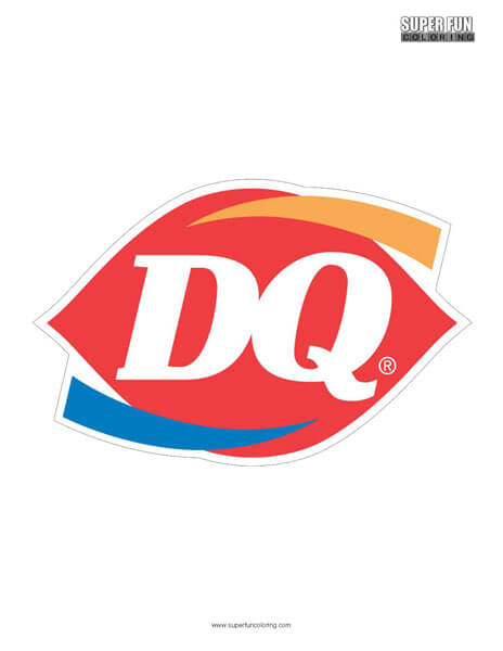 Dairy Queen Coloring Page Free