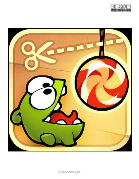 Cut the Rope App Coloring Page Android Iphone