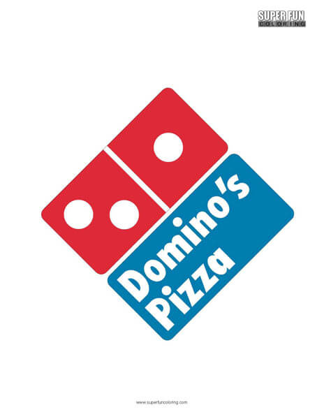 Domino's Pizza Coloring Page Free