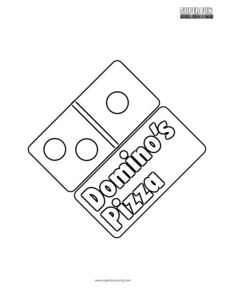 domino u0026 39 s pizza coloring page