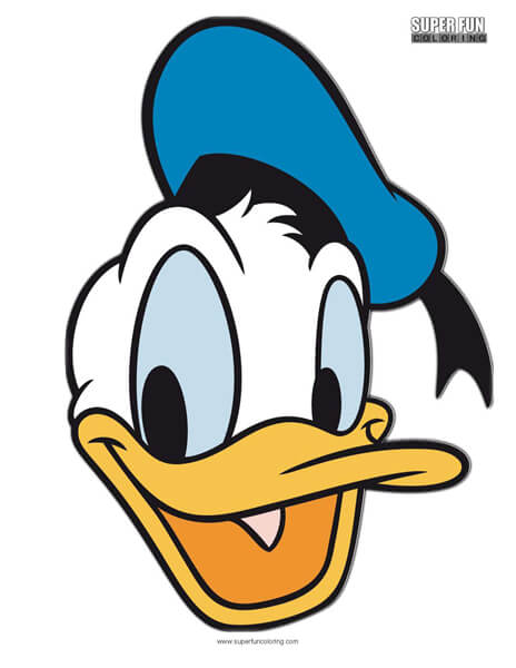 Donald Duck Coloring Page Disney