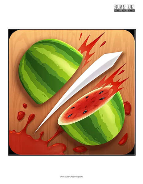 Fruit Ninja App Coloring Page Android Iphone