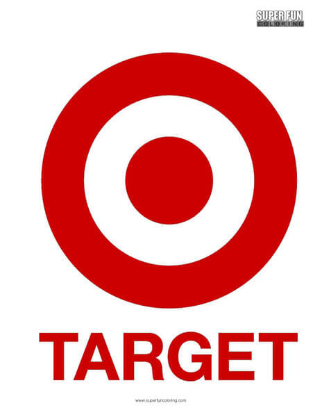 Target Coloring Page Free