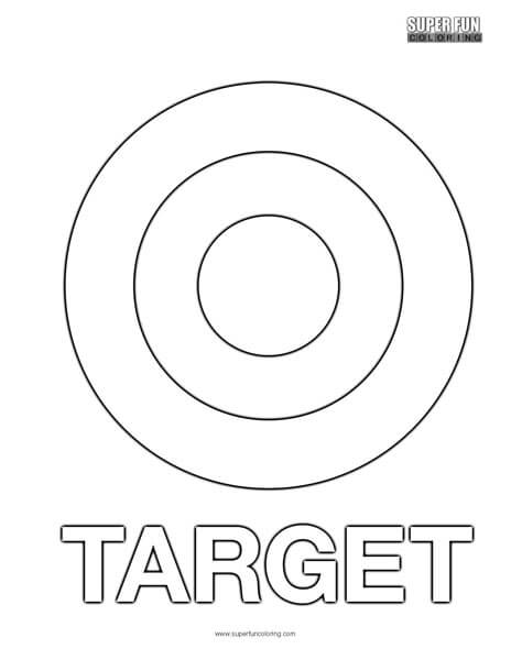 target coloring pages | Target Coloring Page - Super Fun Coloring