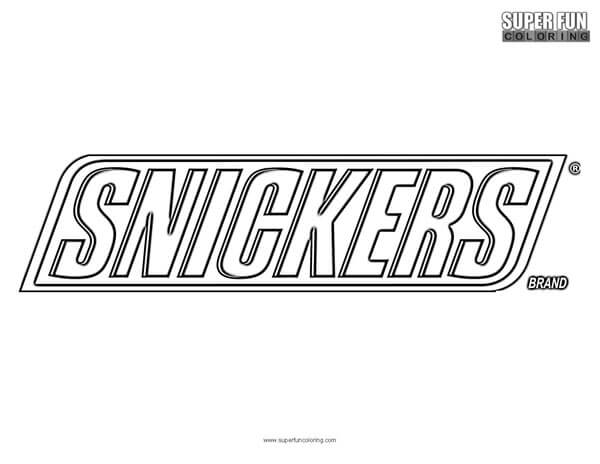 snickers coloring page