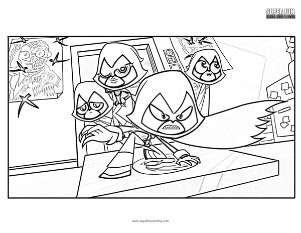 Teen Titans Go Coloring Page Super Fun Coloring