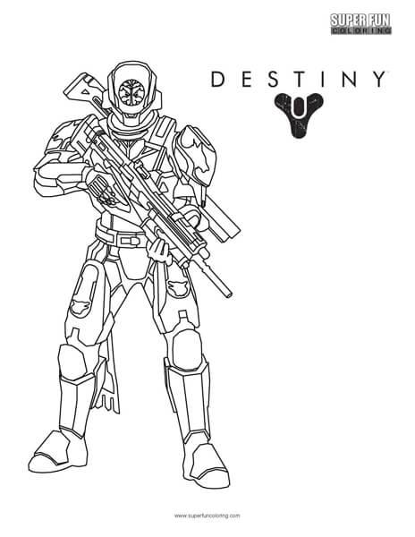 Destiny Titan Coloring Page Super Fun Coloring