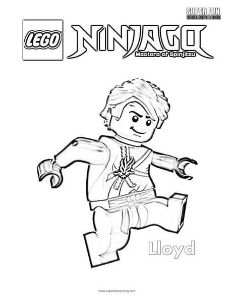 Coloring Pages Ninjago Lloyd