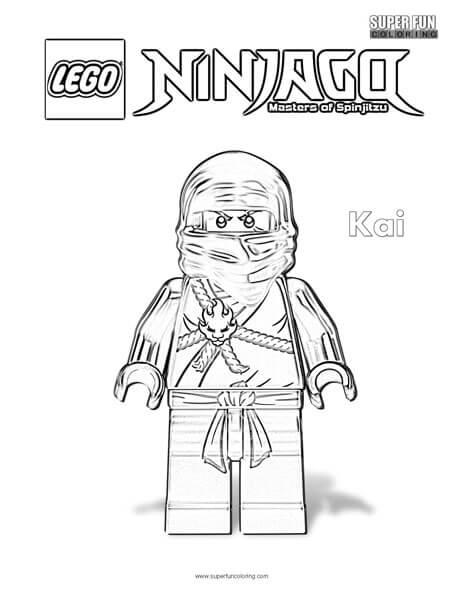 Kai Lego Ninjago Coloring Page