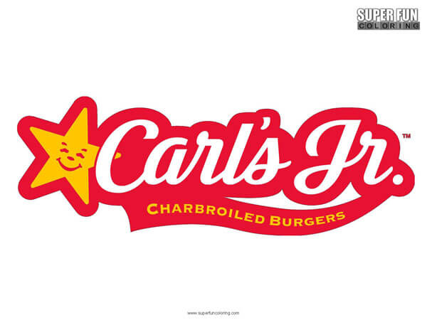 Carls Jr. Coloring Page Free